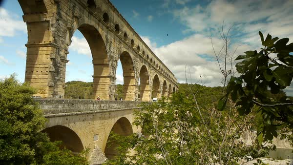 Pont du Gard in South France Royalty-free stock video