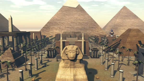 Animation of ancient architecture in a city of Egypt Royalty-free stock video