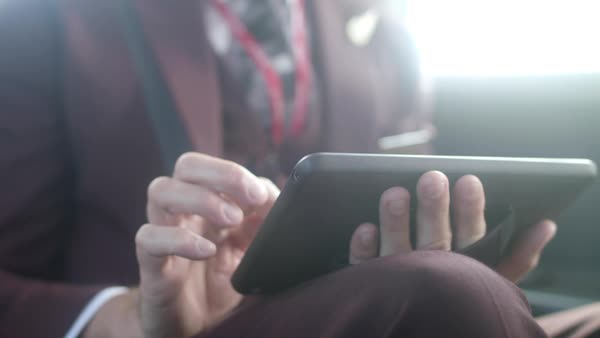 Hand-held shot of a man using a tablet Royalty-free stock video