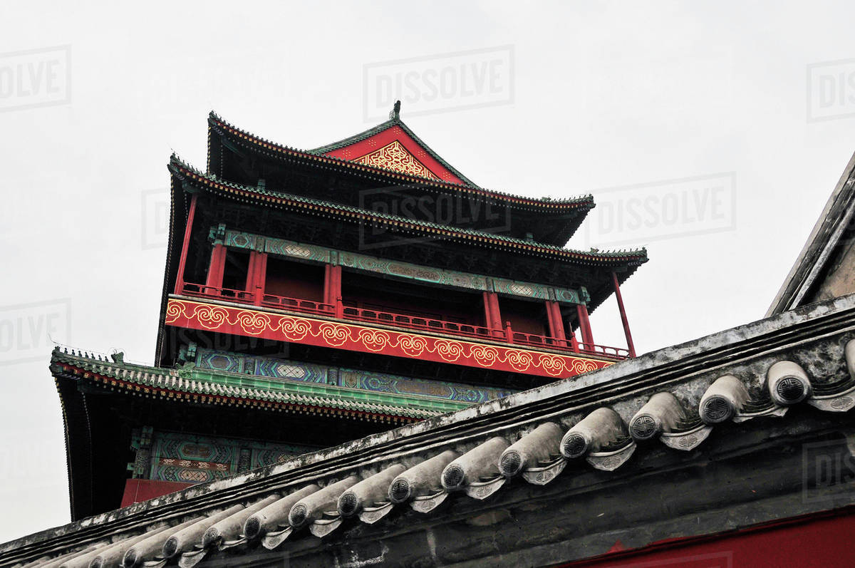 a building with traditional chinese architecture beijing china