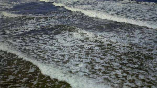 Aerial of small waves approaching shore Rights-managed stock video