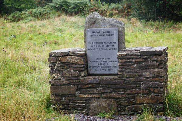 Commerative Plaque For Famine Victims At The Famine Burial Ground Near Dunmanway; County Cork, Ireland Royalty-free stock photo