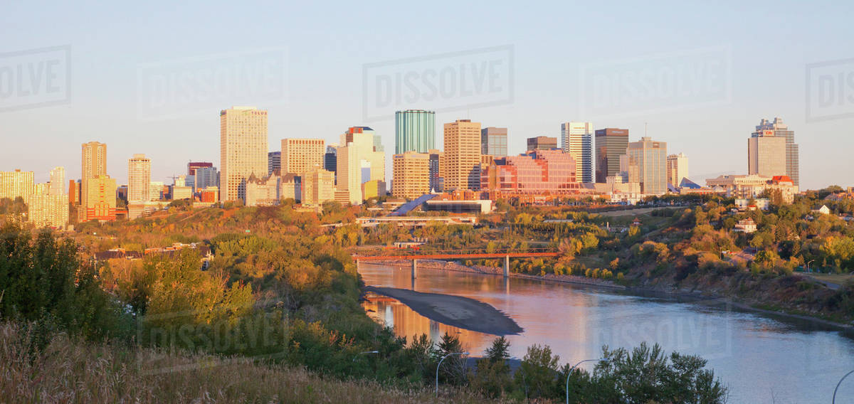 City Of Edmonton Skyline Edmonton, Alberta, Canada -2390