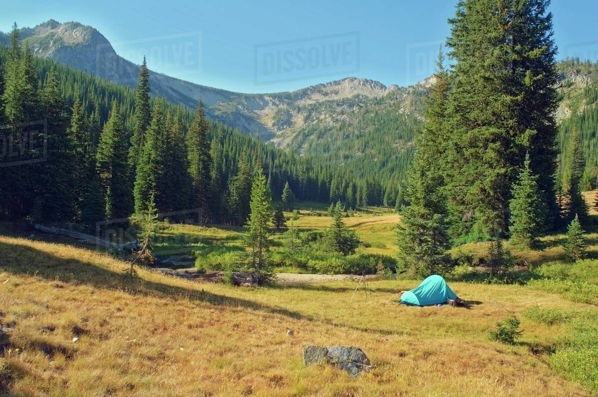 Eaglecap Wilderness, Oregon, United States Of America; Backcountry Camping In Brownie Basin Royalty-free stock photo