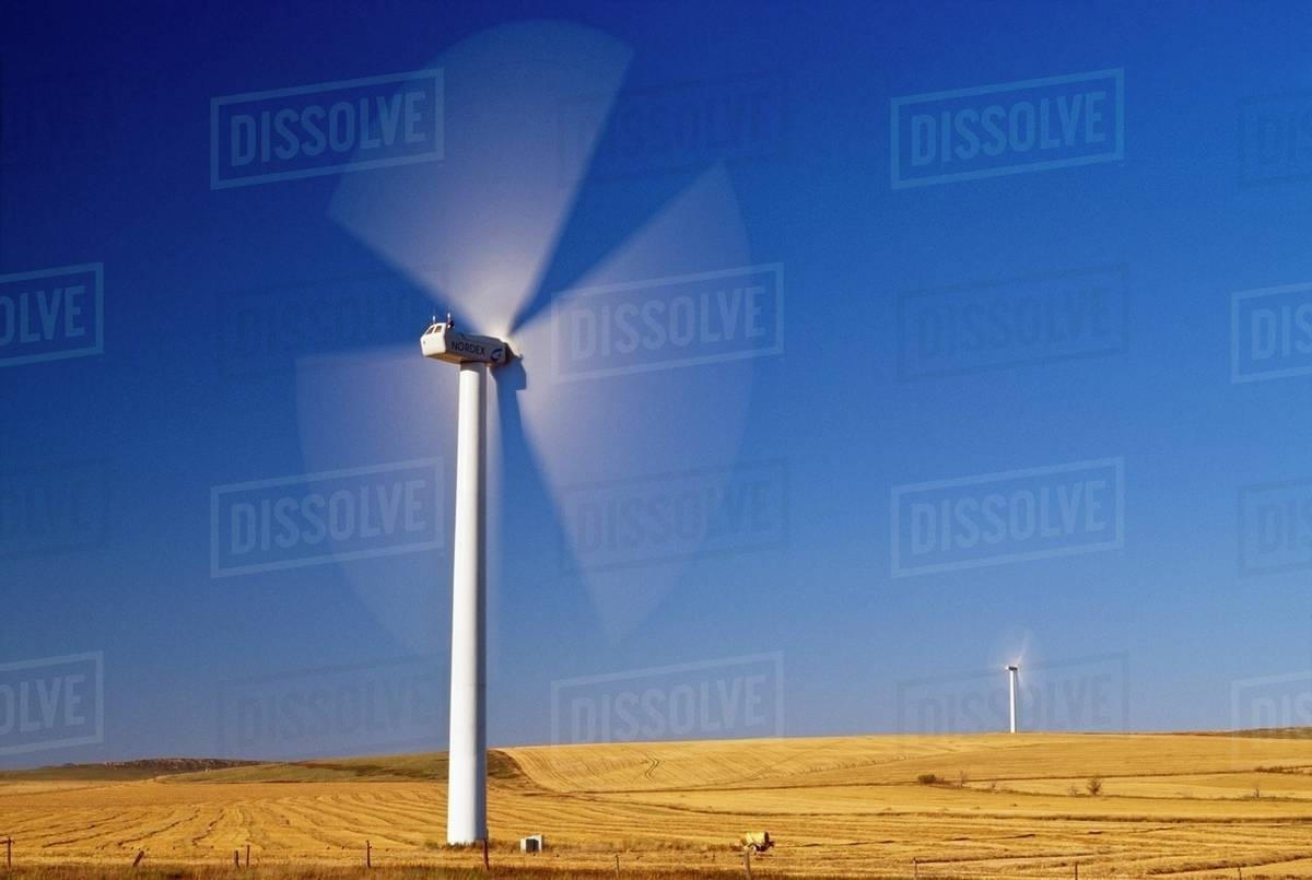 Windmills Generating Electricity Near Pincher Creek Alberta Canada