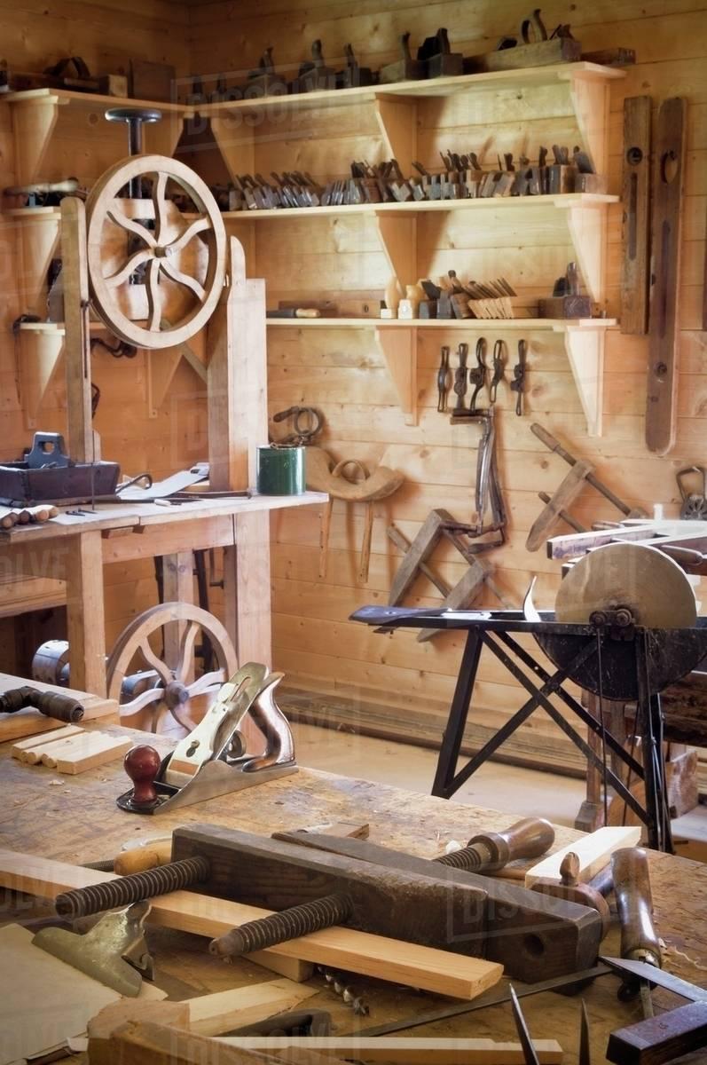 Fort Edmonton Alberta Canada Antique Woodworking Workshop D869 66 735