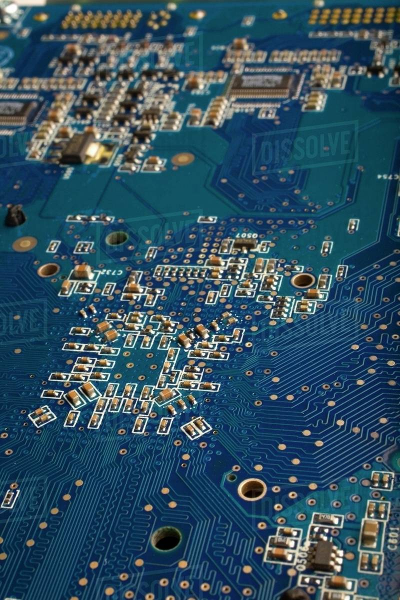 Computer Circuit Board Stock Photo Dissolve With Components Royalty Free Photos Image
