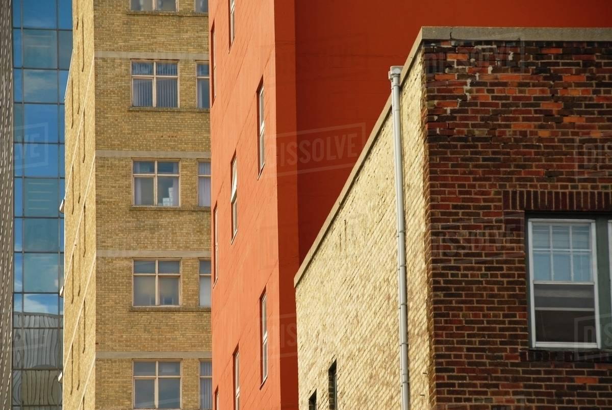 Downtown Apartment Buildings Winnipeg Manitoba Canada