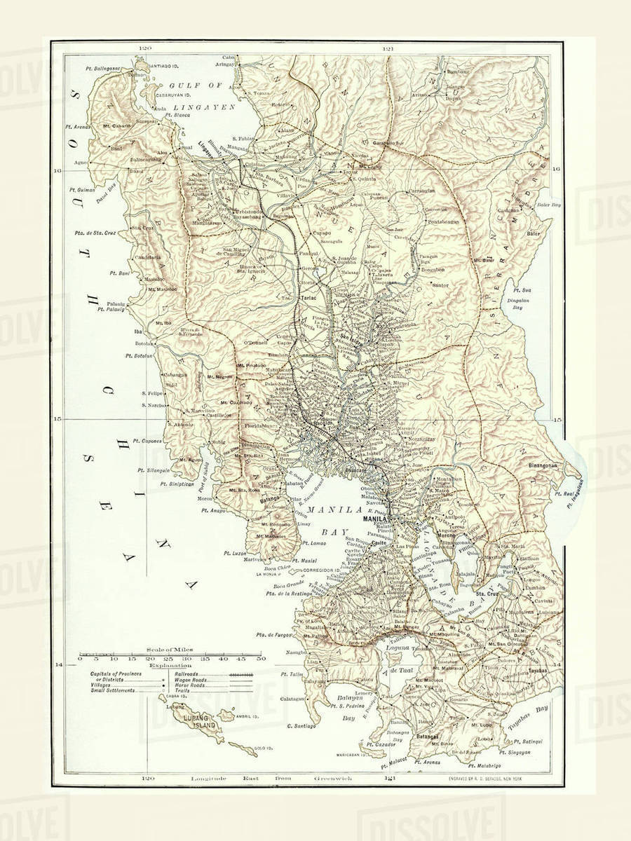 Spanish American War Philippines Map.Map Of Manila Philippines And The Seat Of War During The Spanish