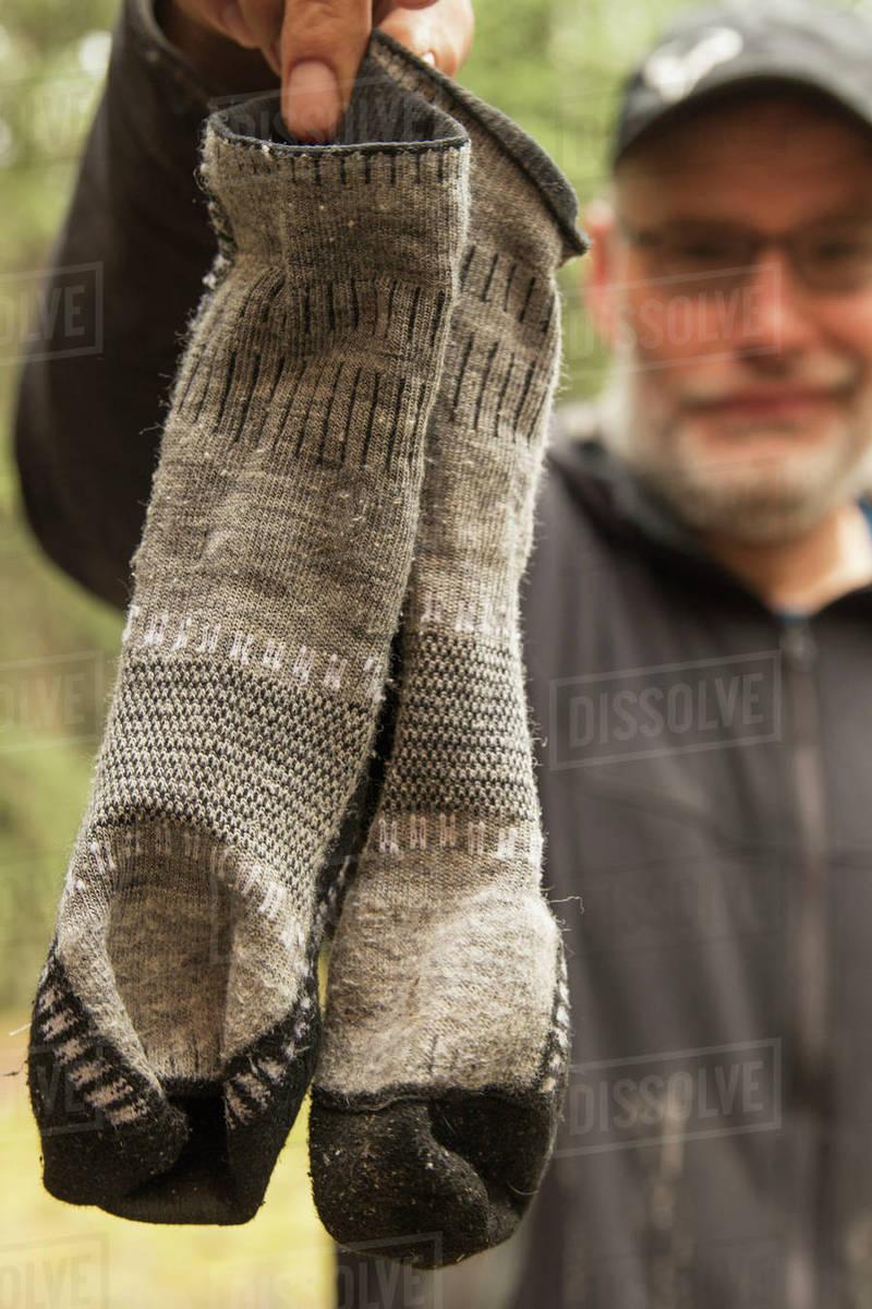 Mature stinky socks
