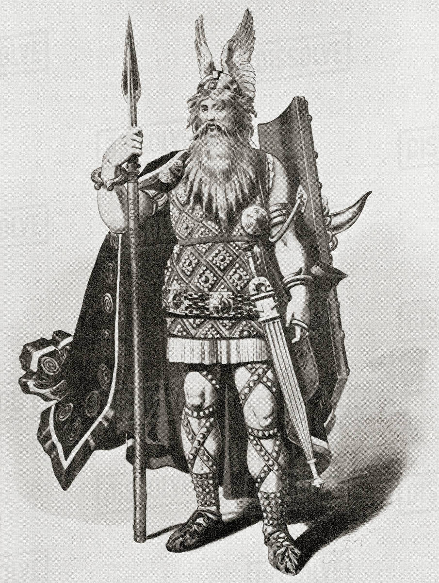 Wotan  A Costume Design Made For The Bayreuth Production Of Richard  Wagner's Opera Of 1876, Siegfried  stock photo