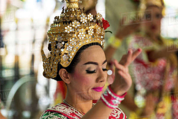 aa23f475ac435 A Young Woman At A Traditional Dance; Bangkok, Thailand Rights-managed  stock photo