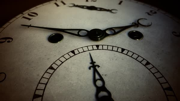 Close-up Of A Retro Clock Hand Moving On Dial Royalty-free stock video