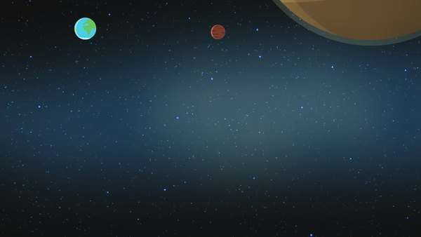 Detail of Earth in solar system with scientific information Royalty-free stock video