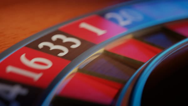Loopable shot of roulette wheel spinning Royalty-free stock video