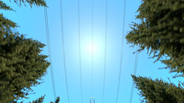 Camera looking up and moving forward under the electricity pylons Royalty-free stock video