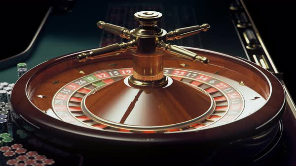 Loopable shot of spinning roulette wheel Royalty-free stock video