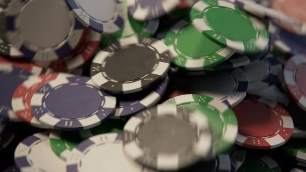 Casino chips falling, building a pile Royalty-free stock video