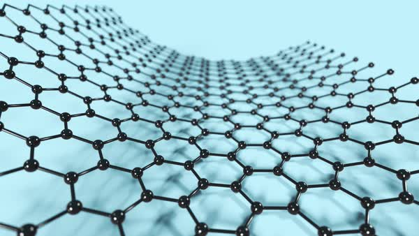 Animation of rolling up a graphene sheet into a carbon nanotube. Nanotechnology science background. Royalty-free stock video