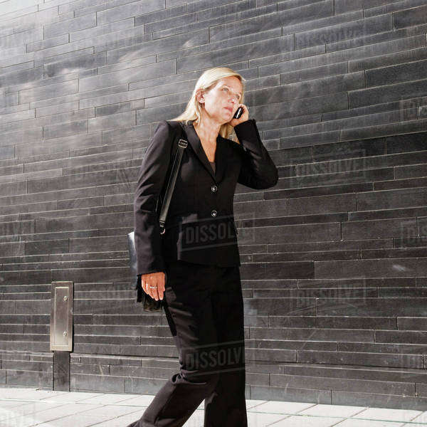 Businesswoman on the go Royalty-free stock photo