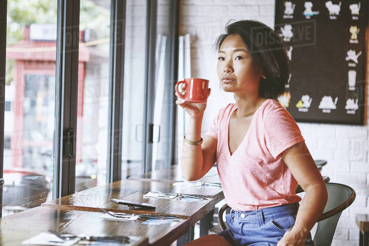 Awesome Woman In Cafe Watching From Window Seat Shanghai French Concession D943 240 459 Theyellowbook Wood Chair Design Ideas Theyellowbookinfo