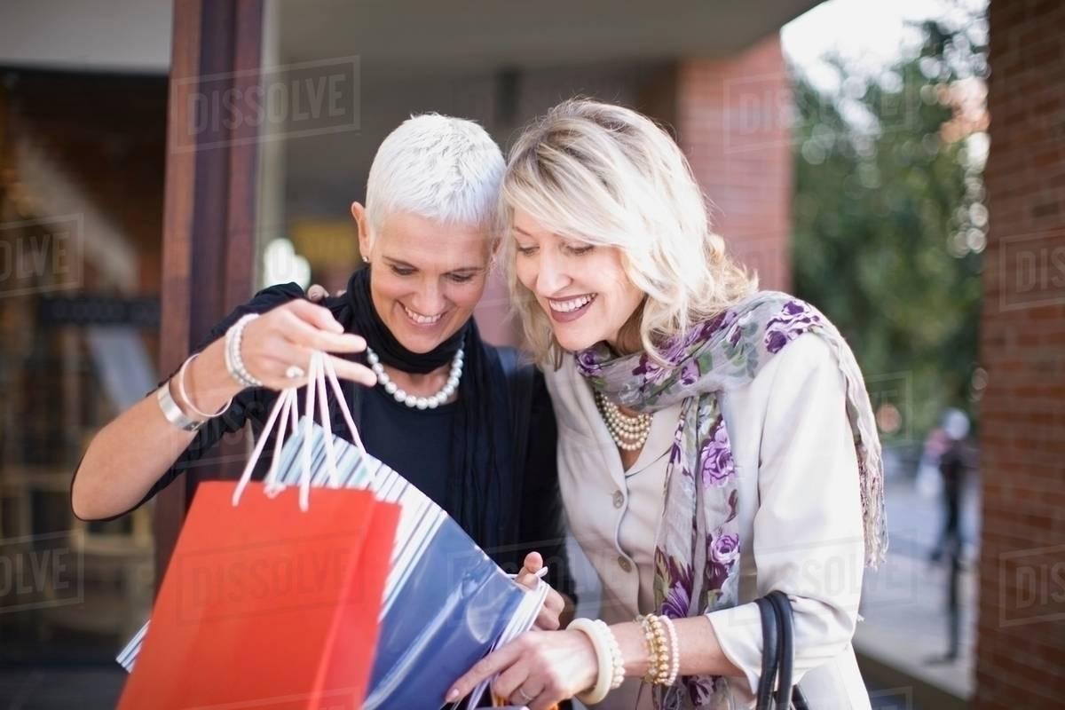 shopping Mature women