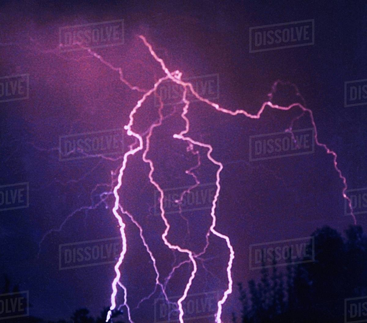Lightning photograph from NOAA's National Severe Storms Laboratory (NSSL) Collection Royalty-free stock photo