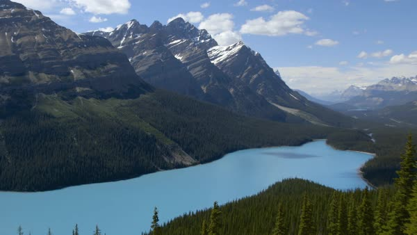 Static shot view of Lake Moraine, Alberta, Canada Royalty-free stock video
