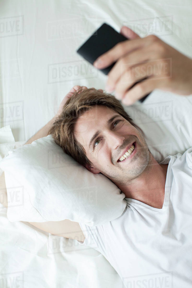 Man video conferencing on smartphone Royalty-free stock photo