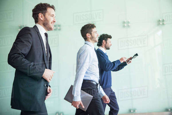 Businessmen walking together with confidence Royalty-free stock photo