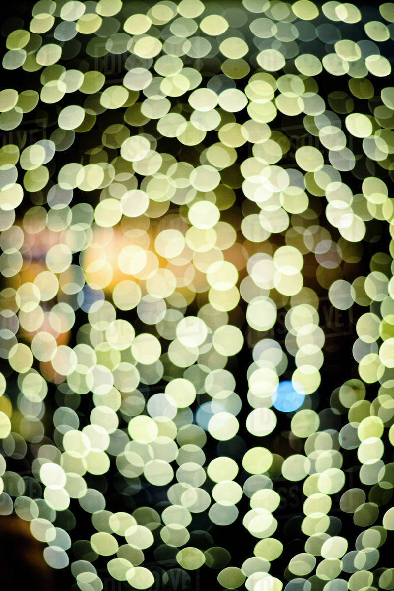 Blurred lights at night Royalty-free stock photo