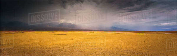 Clouds forming over desert landscape Royalty-free stock photo