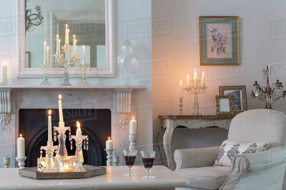 Candle Lit Fireplace Fireplace Design Ideas