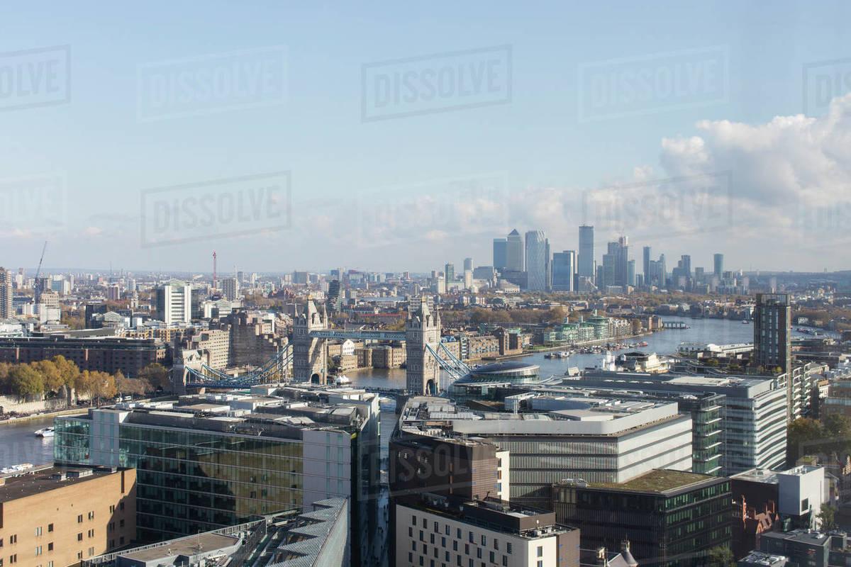 Sunny cityscape view, London, UK Royalty-free stock photo