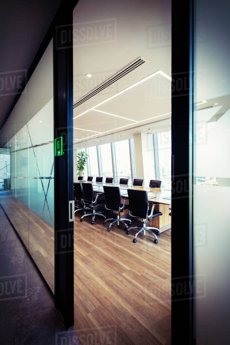 Modern conference room in office Royalty-free stock photo