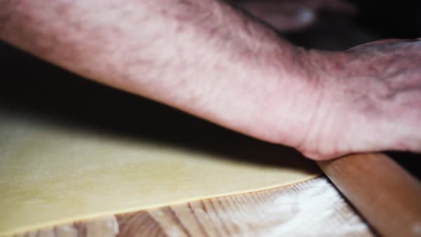 Slow motion close-up of making dough Royalty-free stock video