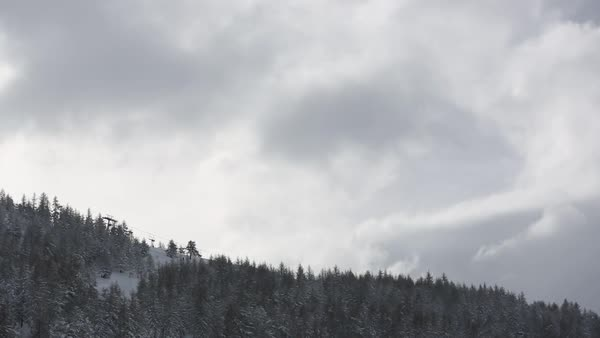 Wide shot of a snow covered mountain Royalty-free stock video