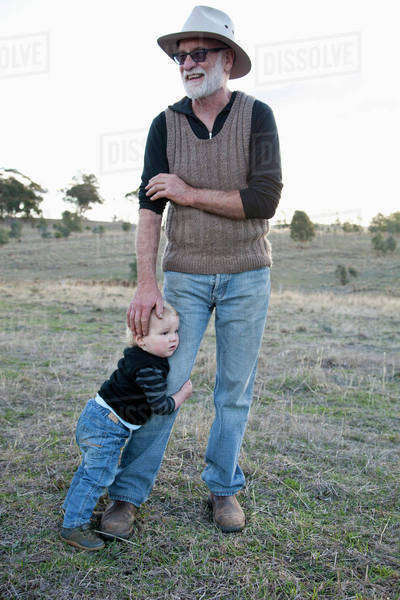 Grandfather with grandson Royalty-free stock photo