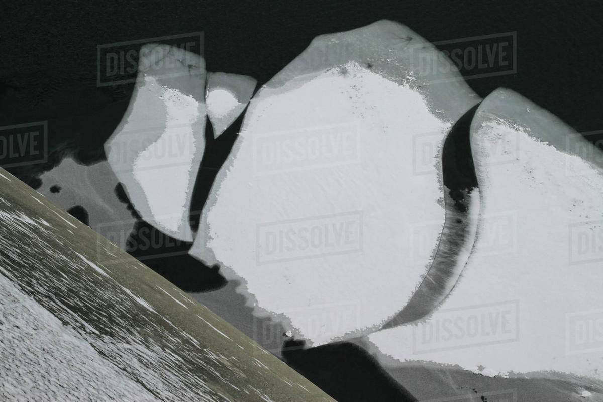 Snowy and ice formation Royalty-free stock photo